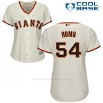Camiseta Beisbol Mujer San Francisco Giants San Francisco Sergio Romo Cool Base Crema