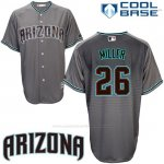 Camiseta Beisbol Hombre Arizona Diamondbacks 26 Shelby Miller Cool Base Gris