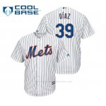 Camiseta Beisbol Hombre New York Mets Edwin Diaz Cool Base Majestic Home Blanco