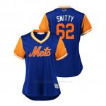 Camiseta Beisbol Mujer New York Mets Drew Smith 2018 Llws Players Weekend Smitty Royal