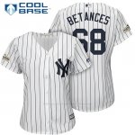 Camiseta Beisbol Mujer New York Yankees 2017 Postemporada Dellin Betances Blanco Cool Base
