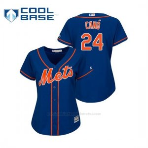 Camiseta Beisbol Mujer New York Mets Robinson Cano Cool Base Majestic Alternato Azul