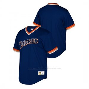 Camiseta Beisbol Nino San Diego Padres Cooperstown Collection Mesh Wordmark V-Neck Azul