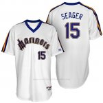 Camiseta Beisbol Hombre Seattle Mariners Kyle Seager Turn Back The Clock Blanco