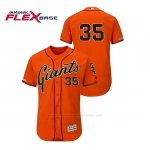 Camiseta Beisbol Hombre San Francisco Giants Brandon Crawford 150th Aniversario Patch Autentico Flex Base Naranja