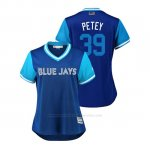 Camiseta Beisbol Mujer Toronto Blue Jays Jake Petricka 2018 Llws Players Weekend Petey Azul