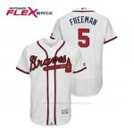Camiseta Beisbol Hombre Atlanta Braves Freddie Freeman Flex Base Autentico Collezione Home 2019 Blanco