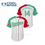 Camiseta Beisbol Hombre Los Angeles Dodgers Enrique Hernandez Mexican Heritage Night Cool Base Blanco