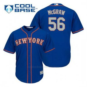 Camiseta Beisbol Hombre New York Mets Tug Mcgraw 56 Azul Alterno Cool Base