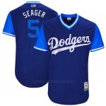 Camiseta Beisbol Hombre Los Angeles Dodgers 2017 Little League World Series Corey Seager Royal