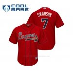 Camiseta Beisbol Hombre Atlanta Braves Dansby Swanson Cool Base Alternato 2019 Rojo
