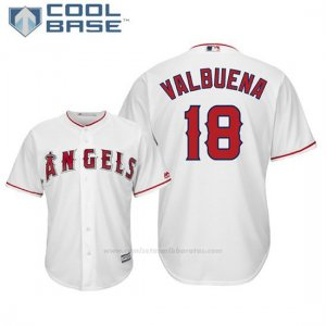 Camiseta Beisbol Hombre Los Angeles Angels Luis Valbuena Cool Base 1ª Blanco