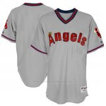 Camiseta Beisbol Hombre Los Angeles Angels Gris 1977 Turn Back The Clock