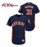 Camiseta Beisbol Hombre Houston Astros Collin Mchugh 150th Aniversario Patch Flex Base Azul