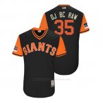 Camiseta Beisbol Hombre San Francisco Giants Brandon Crawford 2018 Llws Players Weekend Dj Bc Raw Negro