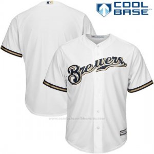 Camiseta Beisbol Hombre Milwaukee Brewers Blanco Cool Base