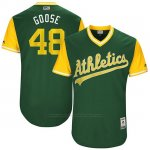 Camiseta Beisbol Hombre Oakland Athletics 2017 Little League World Series Daniel Gossett Verde