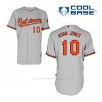 Camiseta Beisbol Hombre Baltimore Orioles 10 Adam Jones Gris Cool Base
