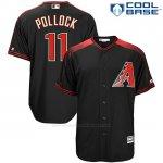 Camiseta Beisbol Hombre Arizona Diamondbacks 11 A.J. Pollock Negro Cool Base