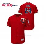 Camiseta Beisbol Hombre Minnesota Twins C.j. Cron 150th Aniversario Patch Autentico Flex Base Rojo