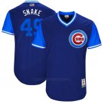 Camiseta Beisbol Hombre Chicago Cubs 2017 Little League World Series 49 Jake Arrieta