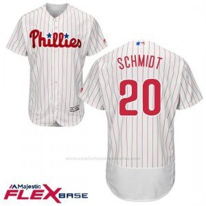 Camiseta Beisbol Hombre Philadelphia Phillies Mike Schmidt Blanco Flex Base