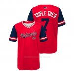 Camiseta Beisbol Nino Washington Nationals Trea Turner 2018 Llws Players Weekend Triple Trea Rojo