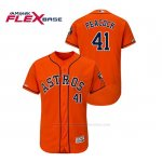 Camiseta Beisbol Hombre Houston Astros Brad Peacock 150th Aniversario Patch Flex Base Naranja