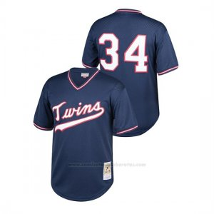 Camiseta Beisbol Nino Minnesota Twins Kirby Puckett Cooperstown Collection Mesh Batting Practice Azul