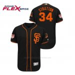 Camiseta Beisbol Hombre San Francisco Giants Chris Stratton 2019 Entrenamiento de Primavera Flex Base Negro