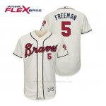 Camiseta Beisbol Hombre Atlanta Braves Freddie Freeman Flex Base Autentico Collezione Alternato 2019 Crema