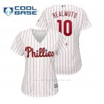 Camiseta Beisbol Mujer Philadelphia Phillies J.t. Realmuto Cool Base Majestic Home Blanco