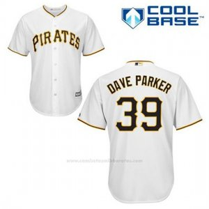 Camiseta Beisbol Hombre Pittsburgh Pirates Dave Parker 39 Blanco 1ª Cool Base