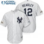 Camiseta Beisbol Hombre New York Yankees 2017 Postemporada Chase Headley Blanco Cool Base