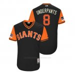 Camiseta Beisbol Hombre San Francisco Giants Hunter Pence 2018 Llws Players Weekend Underpants Negro