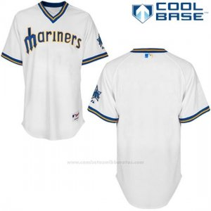Camiseta Beisbol Hombre Seattle Mariners Blanco Cool Base