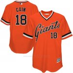 Camiseta Beisbol Hombre San Francisco Giants Matt Cain Naranja Turn Back The Clock