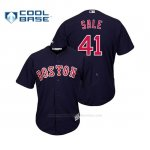 Camiseta Beisbol Hombre Boston Red Sox Chris Sale Cool Base Azul
