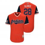 Camiseta Beisbol Hombre Cleveland Indians Corey Kluber 2018 Llws Players Weekend Kluber Rojo