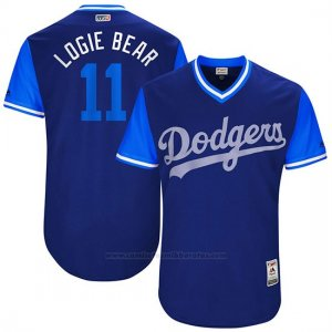 Camiseta Beisbol Hombre Los Angeles Dodgers 2017 Little League World Series Logan Forsythe Royal