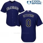 Camiseta Beisbol Hombre Colorado Adam Ottavino 0 Violeta Cool Base