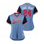 Camiseta Beisbol Mujer Minnesota Twins Logan Forsythe 2018 Llws Players Weekend Logie Bear Light Toronto Blue Jays