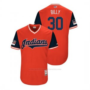 Camiseta Beisbol Hombre Cleveland Indians Tyler Naquin 2018 Llws Players Weekend Billy Rojo