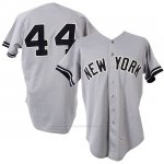 Camiseta Beisbol Hombre New York Yankees Reggie Jackson Gris 1981 Game Worn Road