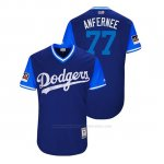 Camiseta Beisbol Hombre Los Angeles Dodgers Dennis Santana 2018 Llws Players Weekend Anfernee Royal