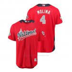 Camiseta Beisbol Hombre All Star Game Cardinals Yadier Molina 2018 1ª Run Derby National League Rojo
