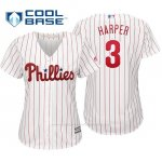 Camiseta Beisbol Mujer Philadelphia Phillies Bryce Harper Cool Base Home Replica Blanco