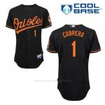 Camiseta Beisbol Hombre Baltimore Orioles 1 Everth Cabrera Negro Alterno Cool Base