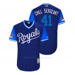 Camiseta Beisbol Hombre Kansas City Royals Danny Duffy 2018 Llws Players Weekend Chill Sergeant Royal