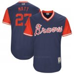 Camiseta Beisbol Hombre Atlanta Braves 2017 Little League World Series 27 Matt Kemp Azul